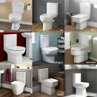 Bathroom Cloakroom Luxury WC Toilet Close Coupled Toilet Pan Cistern Seat