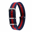 New Army Military Mens Watch Strap Band Fabric Nylon Man Buckle Spring Bars Red