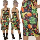 WIGGLE PENCIL FRUIT WITH ANTS DRESS SIZE 8-16 ROCKABILLY GOTH ALTERNATIVE