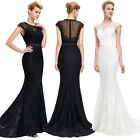 SEXY Long Mermaid Ladies Formal  Evening Prom Party Dress Lace Pageant Ball Gown