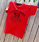SCHOTT NYC NEW T- Shirt Made in usa     100%PRESHRUNK Cotton  S/S