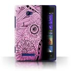 STUFF4 Phone Case/Back Cover for HTC Windows Phone 8X /Henna Paisley Flower