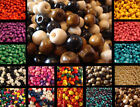 Wholesale 1000pcs Colorful Round Wood Spacer Loose Beads Charms 4*3mm 8*7mm