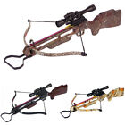 150 lb Wood / Camouflage Camo Hunting Crossbow Bow +4x20 Scope +12 Arrows 180 80
