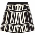 River Island Women's Party Black and White Printed Smart Shorts WITH DEFECT