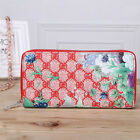 Vintage Flower Print Purse Leather Wallet Clutch Long Zipper Handbag for Women