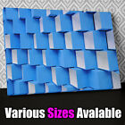 AB718 Modern 3D geometric blue Canvas Wall Art Abstract Picture Print X