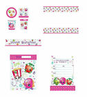 Shopkins Party Supplies Table Cover Banner Loot Bags Invites PARTY PACK