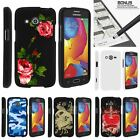 For Samsung Galaxy Avant G386T Slim Fit Hard 2 Piece Case Affectionate Flowers
