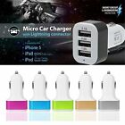 12-24v 3 Port Triple Usb Car Charger Adapter For Samsung Iphone 5 5s 6 6s Plus