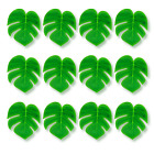Polyester Green Tropical Leaves Luau Table Party Jungle Decorations Pack of 12