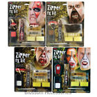 A906 Deluxe Zip Zipper Bloody Make Up Special FX Horror Scary Fake Halloween