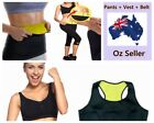 Hot Shapers Sport Excise Slimming Yoga Fitness Bodysuit Stretch Pant+Vest+Belt