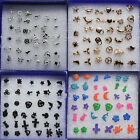 1 Set 18 Styles Wholesale New Mixed Earrings Ear Studs Jewellery Xmas Gift