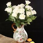 10/20Heads Latex Real Touch Rose 7CM Flowers Bouquet wedding Home Decor Favoes