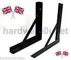 GALLOWS BRACKETS Heavy Pattern Black or Galvanised (Pairs) Lengths 300 - 600mm
