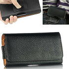 Leather Belt Clip Pouch Case Cover Holster Bag For HTC & Huawei Phone Models