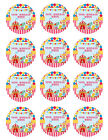 CIRCUS CARNIVAL CLOWN Birthday Party Image Edible Cake topper