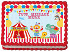 CIRCUS CARNIVAL CLOWN Birthday Party Edible image Cake topper