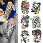 Large Skull Temporary Tattoo Arm Body Art Removable Waterproof Tattoo Sticker