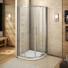 Quadrant Shower Enclosure Stone Tray Glass Door Corner Cubicle 800x800 900x900