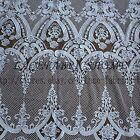 Ivory Super heavy robin embroidered wedding dress lace fabric 51'' width by yard