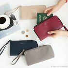 HIMORI iConic Passport Organizer - Bifold Zipper Long Wallet Passport Holder