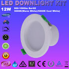 4/6pcs 12W LED DOWNLIGHTS KITS WARM & COOL WHITE DIMMABLE IP44 RECESSED SAA IC-F