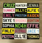 "5x2 "" Personalised Kids Number Plate -Any Name Colour Toy Car Plastic Reg Plate"