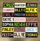 """7x3 """" Personalised Kids Number Plate -Any Name Colour Toy Car Plastic Reg Plate"""
