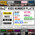 """8x2"""" Kids Plastic Number Plate - Ride On Toy Car Childrens Childs with Name/Reg"""