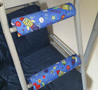 SPACE/ROCKETS Padded BunkBed Ladder Rung Covers*No-Tool Install*(Safe, Non Slip)