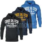 Crosshatch Puff Print Pullover Fleece Hoody   Mens Size