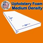 "High and Medium Density #FoamTouch Upholstery Foam size (1-6)"" X 24"" X 72"""