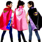 Superhero Capes Girls Fancy Dress Comic Book Day Week Childs Costume Accessories