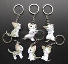 Lot Cartoon Japan Cute Cat 3D Key Chains Cartoon Metal Key Ring Party Gifts N198