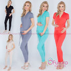 Внешний вид - Ladies Maternity Jumpsuit With Pockets V Neck Wrap Playsuit Plus Sizes 8-18 1080
