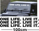 x3 Large ONE LIFE LIVE IT Vinyl Stickers Decals Graphics Off Road Defender 4x4