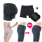 Women Floral Black Side Padded Bum Butt Pant Enhancer Hip Up Buttocks 0190