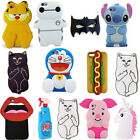 OEM 3D Cute Cartoon Soft Silicone Back Rubber Cover Case For Apple iPhone