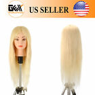 "22/26""100%Human Hair Cosmetology Training Practice Mannequin Manikin Head Blonde"