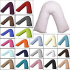 Hituk Filled V Shape Pregnancy PillowCase Orthopedic Maternity Neck Support Bed