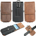 Mobile Phones Card Slots Leather Case Cover Vertical Belt Holster Pouch Sleeve