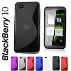 Slim Fit S-Line Wave Series TPU Silicone Gel Case Cover for BlackBerry Z10 BB 10