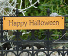Happy Halloween Hanging Sign, Fairy Garden Sign, Halloween Garden by Jennifer