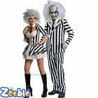 Couples Idea - Halloween Beetlejuice Mens Womens Fancy Dress