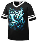 Ghosts Halloween Trippy Boo Spirits Trick Or Treat Dead Men's V-Neck Ringer Tee