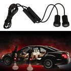 2pcs Black 5W LED Car Laser Projector Lamp Welcome Step Ghost Shadow Door Light