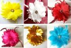 Large Organza Flower / Feather  Corsage Hair Clip  Hairband