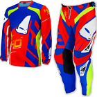 "UFO 2017 40th Anniversary Race Kit MX ENDURO Pants 28"" Jersey Medium Red Blue"